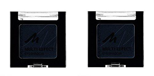 Manhattan Multi Effect Eyeshadow – Schwarzer, schimmernder Lidschatten in handlicher Dose, farbintensiv und langanhaltend – Farbe Blackground 1010N – 1 x 2g