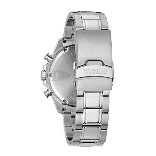 Bulova Men's Quartz Stainless Steel Dress Watch (Model: 96B256)