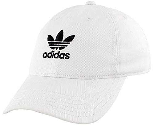 adidas Originals Youth Kids-Boy's/Girl's Boy's Washed Relaxed Strapback Cap, White/Black, ONE SIZE