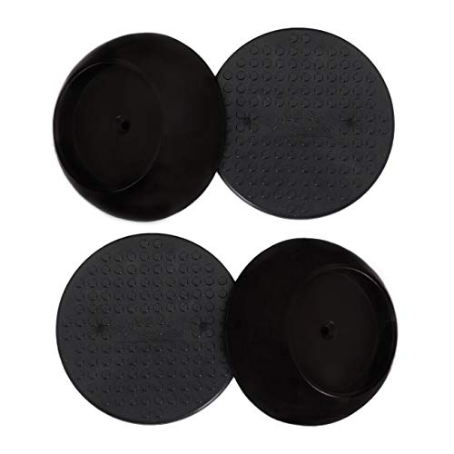 Baby Gate Guru Small Wall Protector 4 Pack - Black - Cup Pads to Guard Your Walls from Pressure Mounted Baby Gates, Pet Gates, Safety Gates, Shower Curtain Rods, and More (4 Pack, Black)