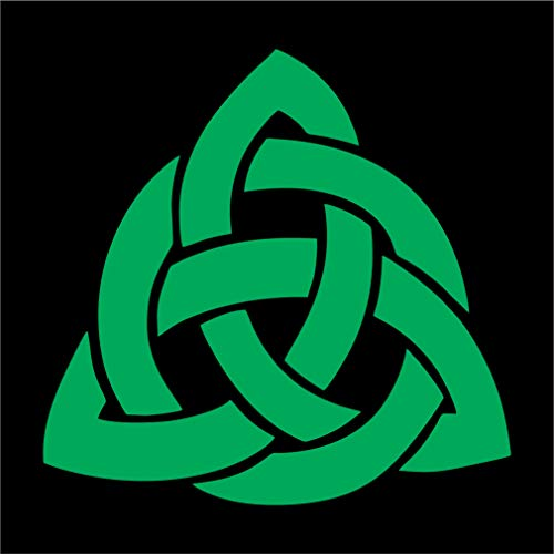 Celtic Knot Vinyl Car Window Decal Irish Tribal Trinity Triquetra Cross - Multiple Sizes and Colors - Die Cut No Background (Dark Green, 4' Tall)