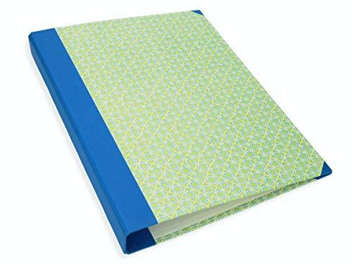 Akten-Ordner DIN A4, Motivordner in blau grün, Schulordner mit Tipklemme, Portfolie-Ordner 4 cm schmal aus stabilem Karton, für Dokumente und Schulunterlagen