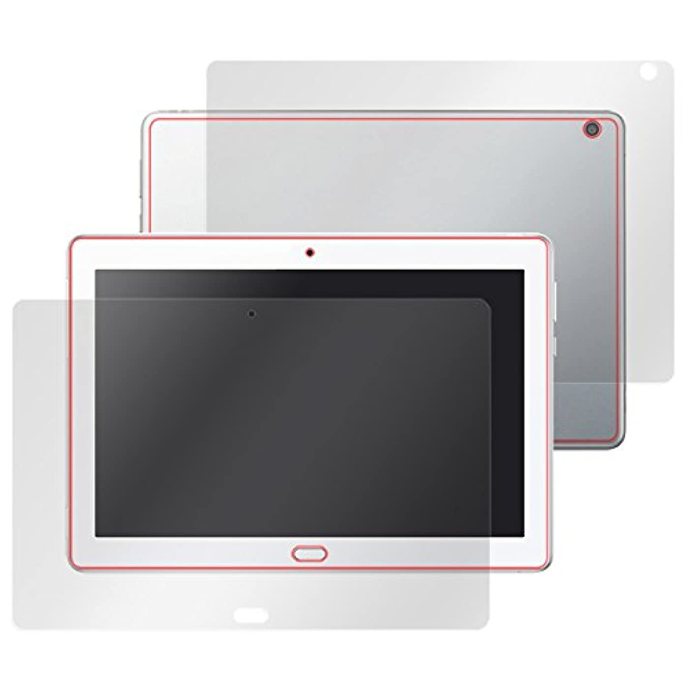 私たちのデクリメント家庭日本製 指紋が目立たない 反射防止液晶?背面保護フィルムセット dtab d-01K / HUAWEI MediaPad M3 Lite 10 WP OverLay Plus OLMEDIAPADM3L10WP/S/2
