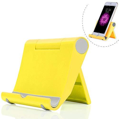 Dosige Soporte Télefono móvil Ajustable, Soporte Multiángulo Universal para iPad Tabletas iPhone X/8 Plus/7/6 Plus/6s/6/SEGalaxy Samsung y Android Smartphone(Amarillo)