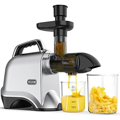Slow Juicer, FEZEN Juicer Machines Vegetable and Fruit, Cold Press Juicer...