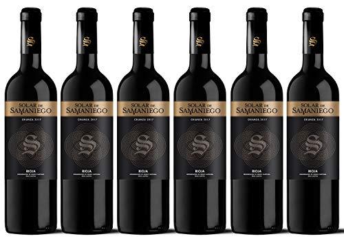 Solar de Samaniego Vino Tinto Crianza 2017. D.O.CA. Rioja. Caja de 6 botellas de 75cl