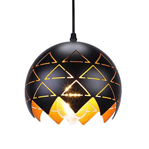 SISVIV Pierced Pendelleuchte Industrie Pendellampe Orientalische Lampe Metallform Hängelampe Retro Verstellbare Hollow Deckenleuchte für Café Bar Esstisch Foyer Loft