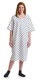 Medline Snowflake Print Patient Gown for Hospital or Homecare use 2 Pack