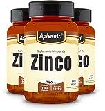 Kit Suplemento Mineral de zinco 3 un x 60 caps (280 mg)