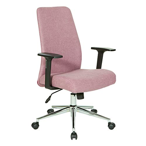 OSP Home Furnishings Evanston Office Chair, Orchid