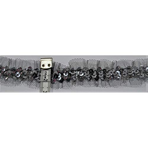 Elastische tule rokken pailletten, 25 mm hoog