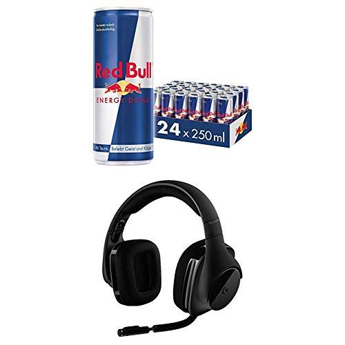 Red Bull Energy Drink Dosen Getränke 24er Palette + Logitech G533 Gaming Headset
