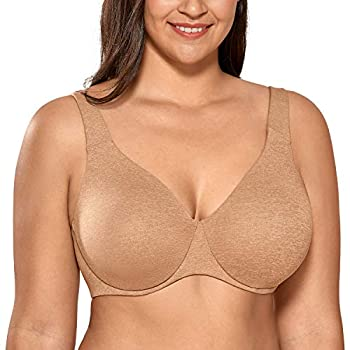 Limited stretch cups hold up large breasts Underwire and elastic side wings help to support Adjustable wide straps for better comfort and fit Made of breathable and smooth fabric AISILIN, sub-brand of DELIMIRA, focuses on comfort with fashion