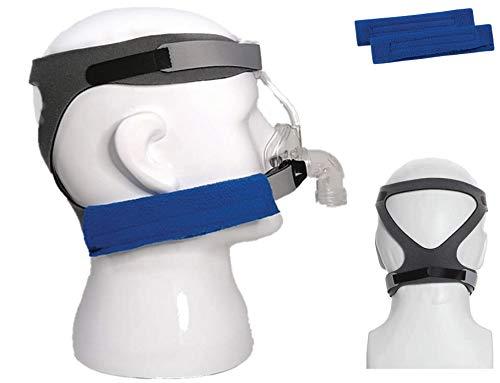 Suministros Cpap de BALIBETOV - Repuesto universal de la correa del arnés Cpap y almohadillas de confort para Cpap Resmed y varias máscaras Cpap (Máscara no incluida) (Gris)
