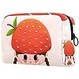 Bolsa de brochas de maquillaje personalizables, bolsas de aseo portátiles para mujeres, bolso cosmético, organizador de viaje, seta y niña