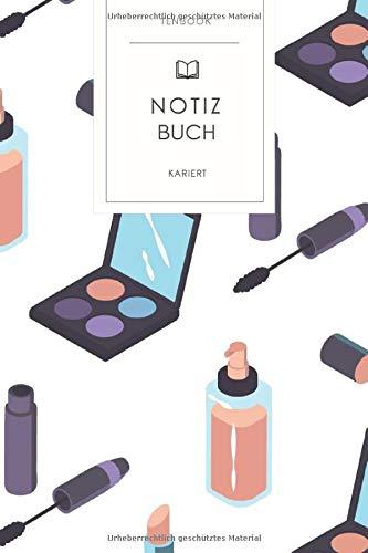 Notizbuch kariert: Make-Up Wimperntusche. Tagebuch, Bullet Journal, Handlettering, Skizzenbuch oder...