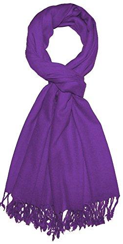 Lorenzo Cana Luxus Herren Schal Schaltuch 50% Kaschmir 50% Wolle Herrentuch Uni violett lila Schal Tuch einfarbig