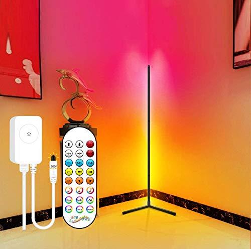 Lámpara De Pie LED Regulable Luz De Pie Multicolor Lámpara De Pie RGB 156Cm para Salon Dormitorio Oficina 24 Modos con Modo Música