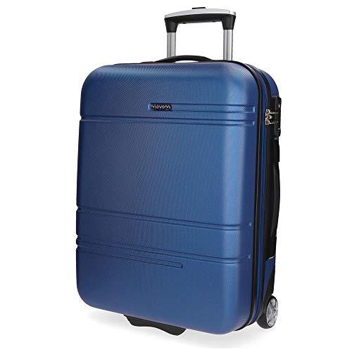 Movom Galaxy Maleta de cabina Azul 39x55x20 cms Rígida ABS Cierre TSA 38L 2,7Kgs 2 Ruedas Equipaje de Mano