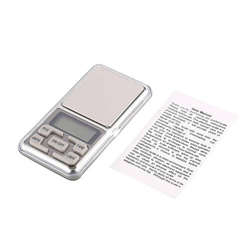 Ydfq Básculas de pesaje Báscula de Bolsillo Mini Digital 1000 g 0.1 g Precisión g/TL/oz/CT/gn Medición de Peso para Joyas de Cocina Tara de Oro Pesaje