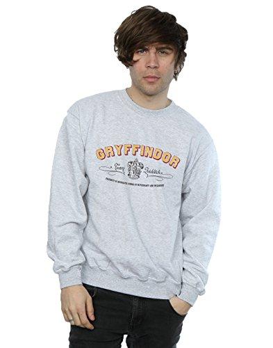 Harry Potter Herren Gryffindor Team Quidditch Sweatshirt Small Sport Grey