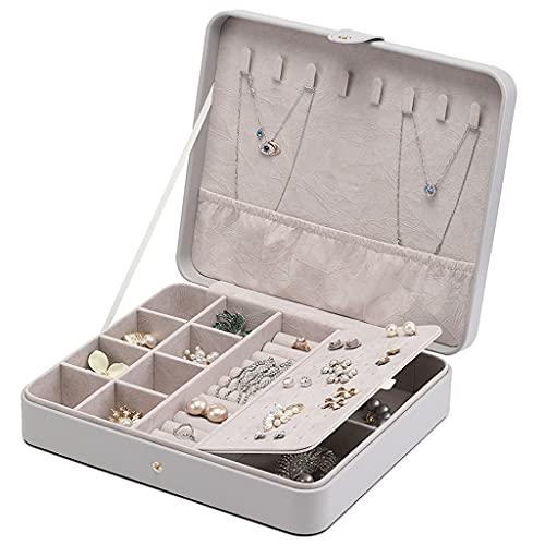 BOLE Portátil Caja de joyería de Moda Caja de joyería de Cuero HASP para Pendientes Collares Anillos Regalos de cumpleaños Mujeres Chica Joyería Organizador Exterior