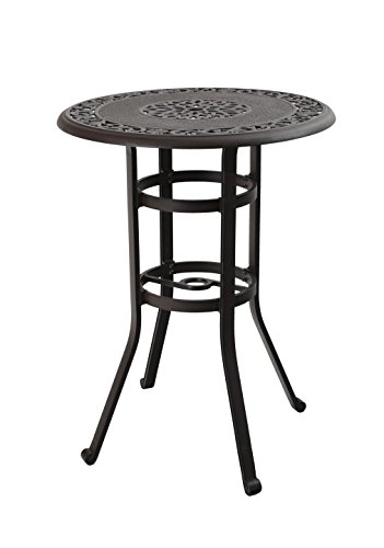 "PHI VILLA 32"" Cast Aluminum Pub Height Bistro Round Table for Oudoor Paito - 41"" Height"