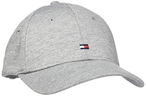 Tommy Hilfiger Damen Baseball Cap BB Jersey, Grau (Grey 0JL), One Size (Herstellergröße:OS)