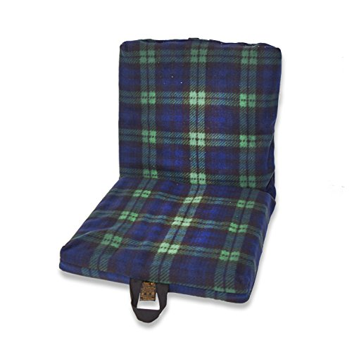 Ability Superstore Two Way Support Cushion with Black Watch Tartan Fleece Cover