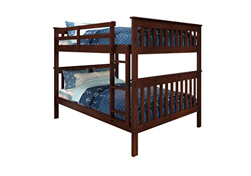 donco kids bunk beds Donco Kids 123-3Cp Mission Bunk Bed, Full/Full, Dark Cappuccino/White