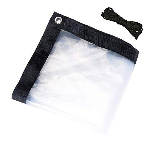YJHH Lona Transparente con Ojales 3x6m, Lona De Plástico Impermeable Rip-Stop, Bordes Reforzados, Aislamiento, Resistente Al Agua, para Jardines/Piscinas/Tejados/Muebles