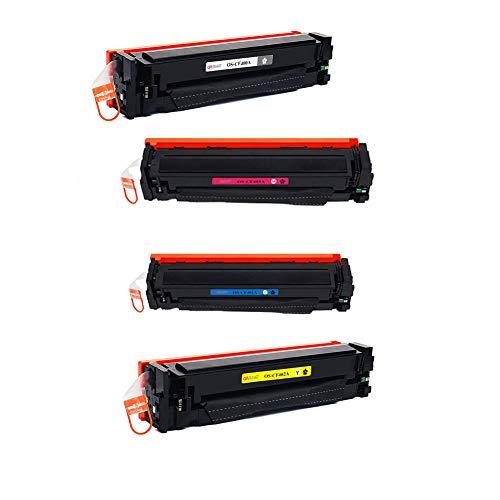 AELN compatibele HP201A MFPM277 MFPM274n laserprinter, origineel bruikbare tonercartridge, goede algemene afdruk-eigenschappen., size, 4 kleuren.