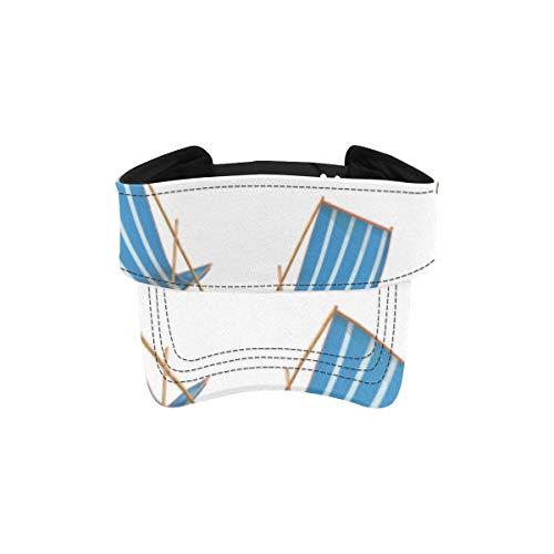 Sombreros para correr para hombre de dibujos animados coloridos silla de playa linda sombrero de vis