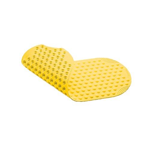 """Wanneneinlage, Wannenmatte, Sicherheitseinlage für die Badewanne """"BUBBLES"""" Größe: 89 x 38cm Farbe: Gelb"""