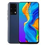 Smartphone con pantalla HD grande de 7.2 ', tarjetas duales, teléfonos móviles con desbloqueo facial y huellas dactilares de doble modo de espera, teléfonos móviles de 1 + 16 GB para Android(Negro)
