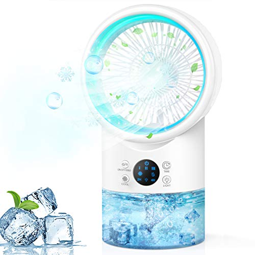 Portable Air Conditioner Fan, Personal Evaporative Air Cooler Super Quiet Desk...