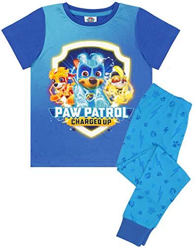 Paw Patrol Pyjamas für Jungen Mächtige Welpen Chase Kids Long Blue PJs Set
