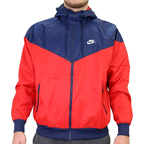 Nike giacca a vento blu rossa unisex - l