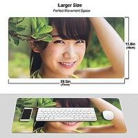 秋元真夏 マウスパッド 光学マウス対応 パソコン 周辺機器 超大型 防水 洗える 滑り止め 高級感 耐久性が良いOne Size