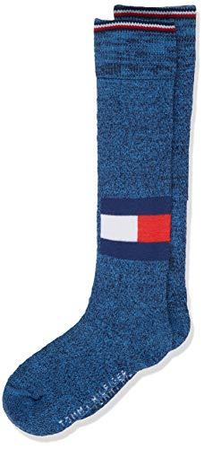 Tommy Hilfiger Jungen TH KIDS KNEEHIGH 1P LOGO RUN FREE Socken, Mehrfarbig (Light Blue Melange 835), 31-34 (Herstellergröße: 031)