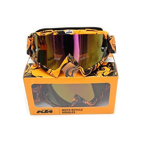 Gafas de Motocross, Enduro, MTB, Esquí, Snowboard, Supermotard, Offroad (Naranja)