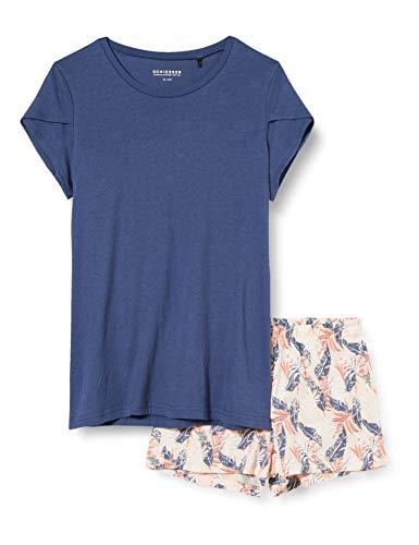 Schiesser Mädchen Anzug kurz Zweiteiliger Schlafanzug, Blau (Indigo 824), (Herstellergröße: 164)