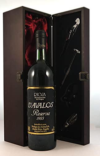 Rioja Reserva 1983 D'Avalos en una caja de regalo forrada de seda con cuatro accesorios de vino, 1 x 750ml