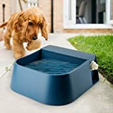 PETLESO Automatic Dog Waterer, Automatic Dog Water Bowl for Cats Dogs Birds Goats Outdoor Small Animals, Blue 2L