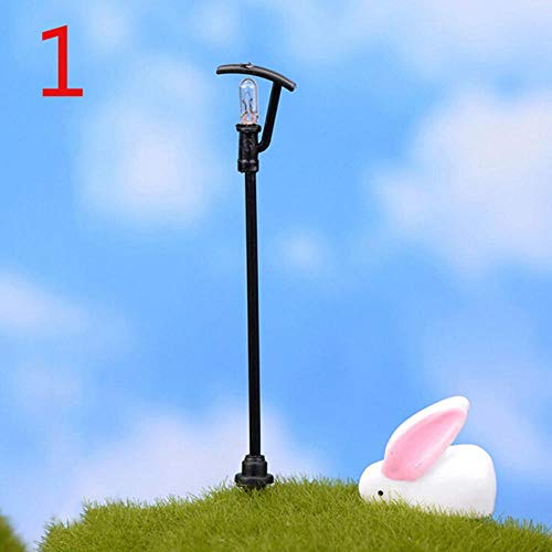 1 pcs Retail street lamp fairy garden miniatures moss terrariums desktop bottle garden resin crafts decoration for home,1