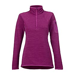 Burton Womens Ak Lift Half Zip, Heathered Grapeseed, Medium