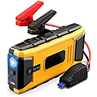 Car Jump Starter 1200A Peak 16800mAh for up to 8L Gas & 6L Diesel Engines
