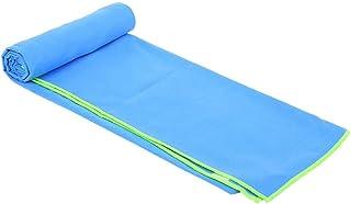 منشفة سباحة ميكروفايبر مع حقيبة للحمل سبورتس من مينترا - ازرق فاتح، 80 سم - 130 سم