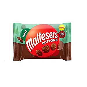 maltesers buttons mint flavoured 36 x 32g bags (full box) Maltesers Buttons Mint Flavoured 36 x 32g Bags (Full Box) 41hlF2WyhYL
