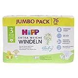 HiPP Babysanft Windeln für Babys, Geeignet von 6-10 kg, Gr. 3 (62-80), 3 Jumbopack, 76 Stück - 6